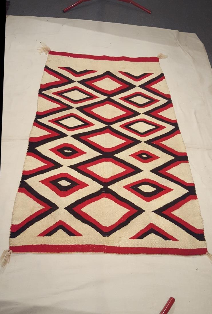 Navajo Woven Regional Rug Ca 1920's - 2