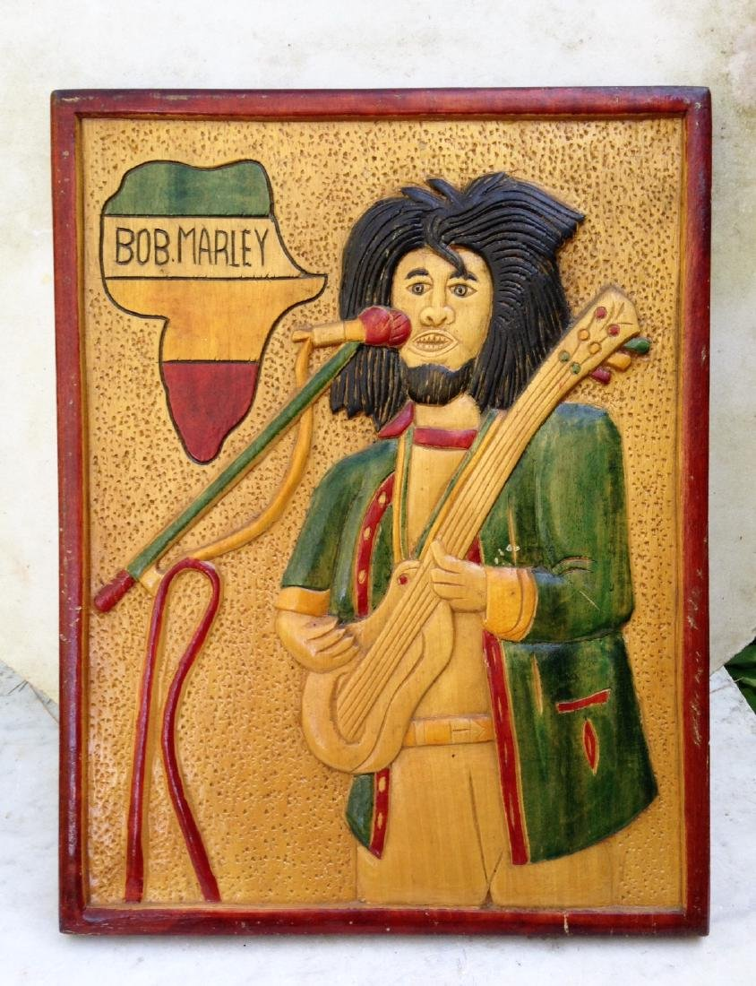 C1970's Relief Carving of Bob Marley