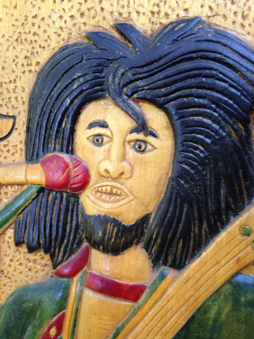 C1970's Relief Carving of Bob Marley - 2