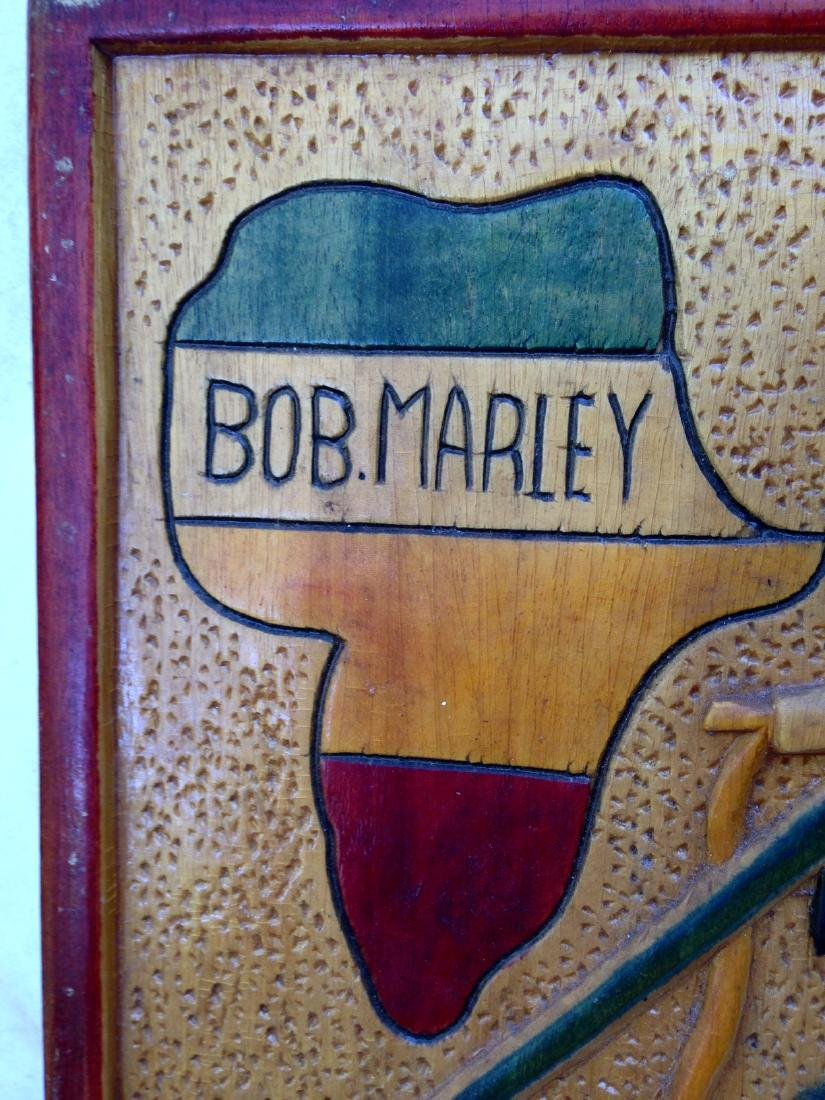 C1970's Relief Carving of Bob Marley - 3