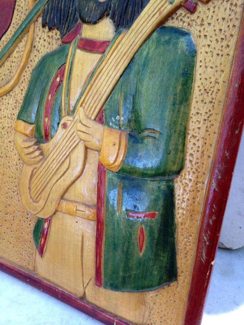 C1970's Relief Carving of Bob Marley - 5