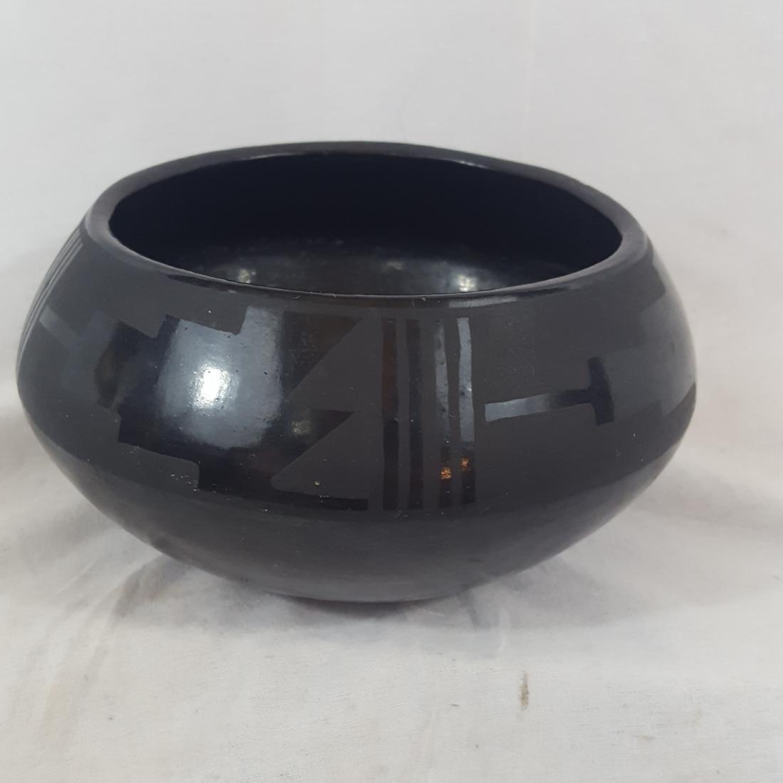 Severa Tafoya Santa Clara Blackware Bowl Ca 1930's
