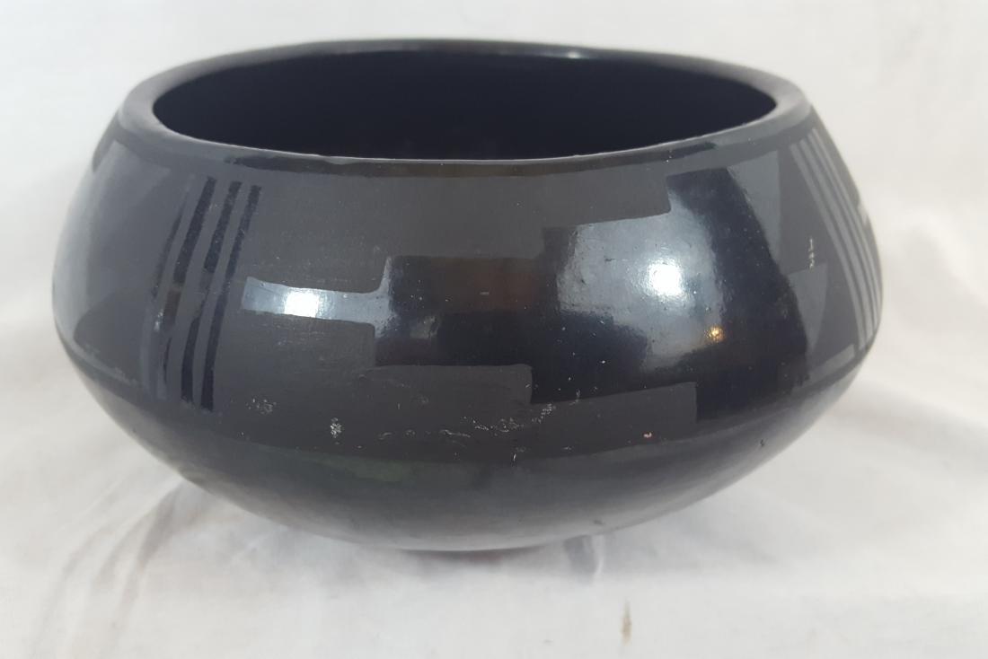 Severa Tafoya Santa Clara Blackware Bowl Ca 1930's - 2