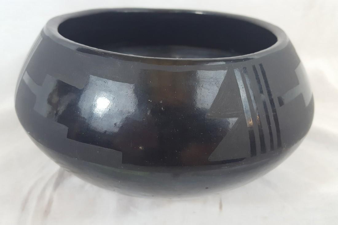 Severa Tafoya Santa Clara Blackware Bowl Ca 1930's - 3