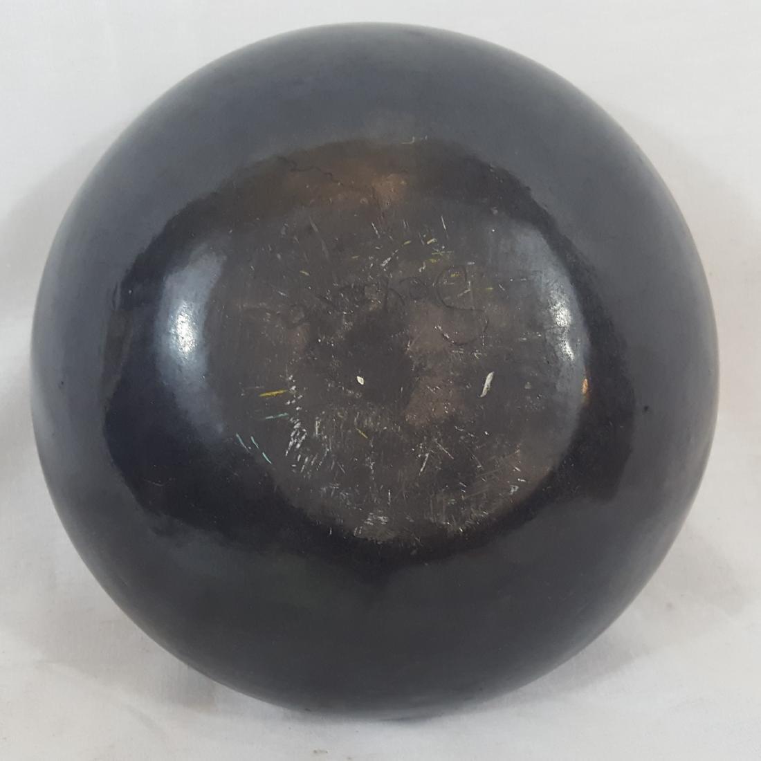 Severa Tafoya Santa Clara Blackware Bowl Ca 1930's - 5