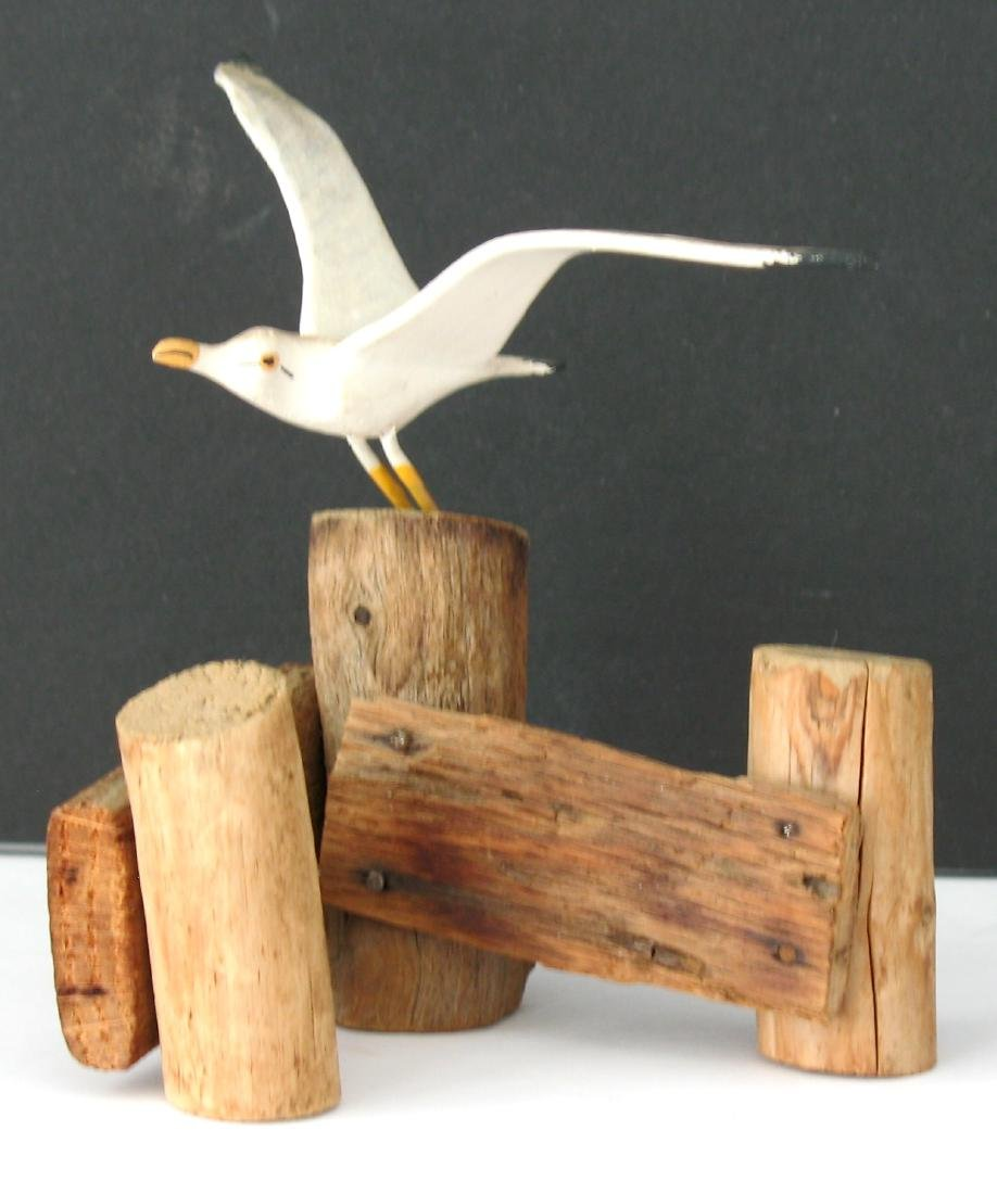 Folk Art Seagull Carving