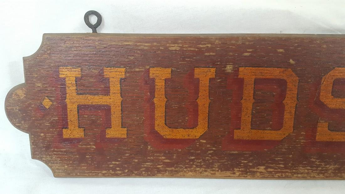 "Early Trolley ""Hudson"" Route or Destination Sign - 3"