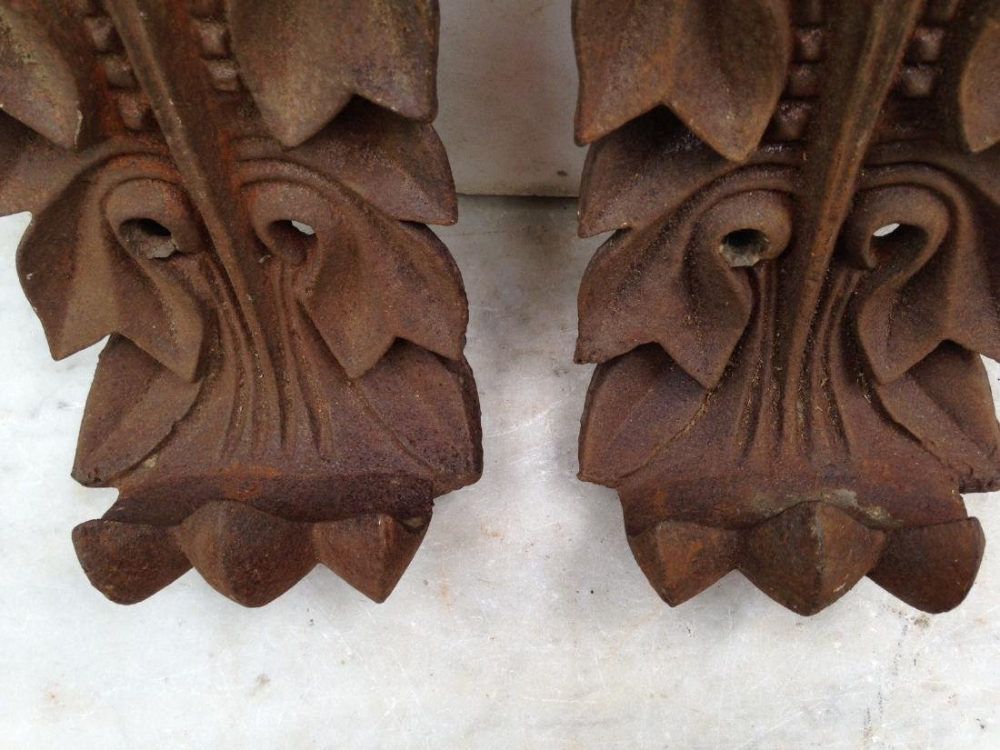 Pair 19th Century Cast Iron Architectural Pieces - 3