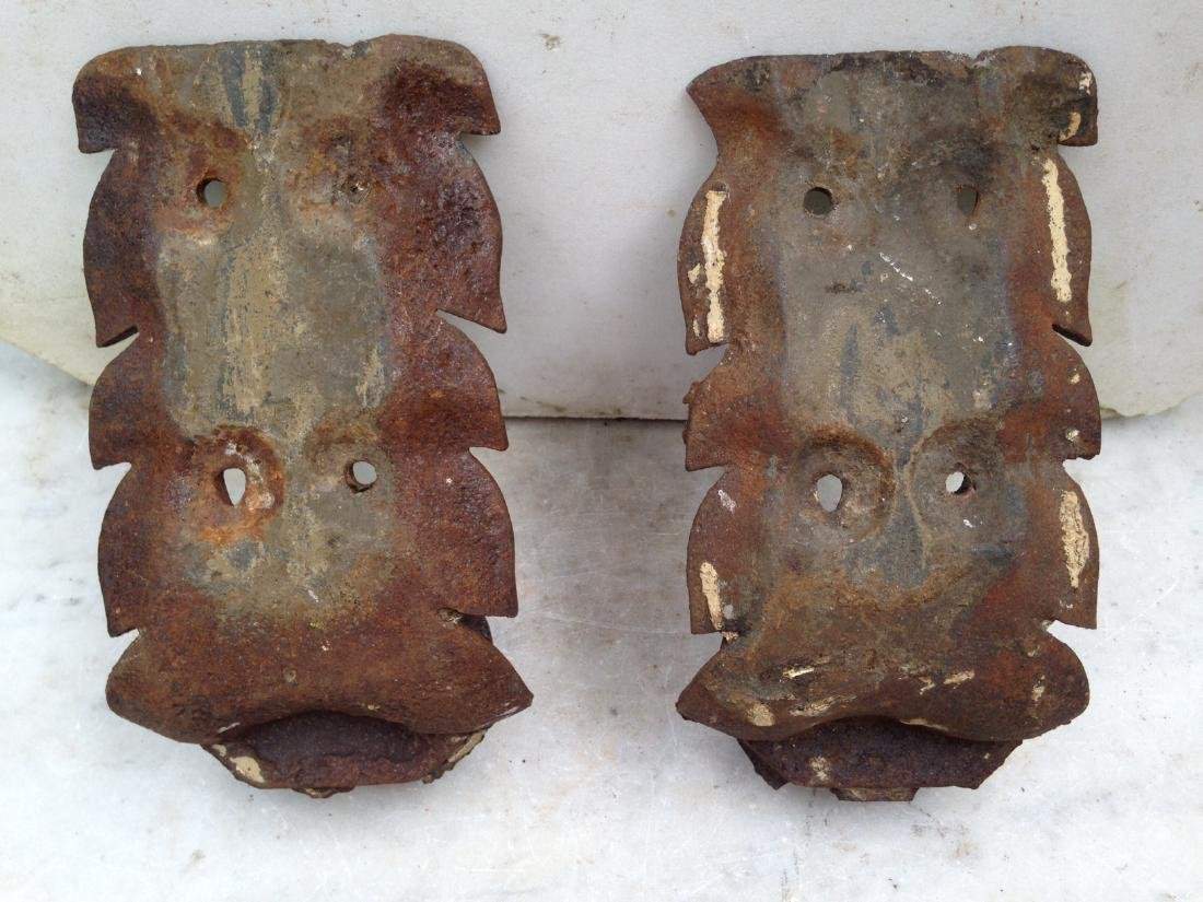Pair 19th Century Cast Iron Architectural Pieces - 4