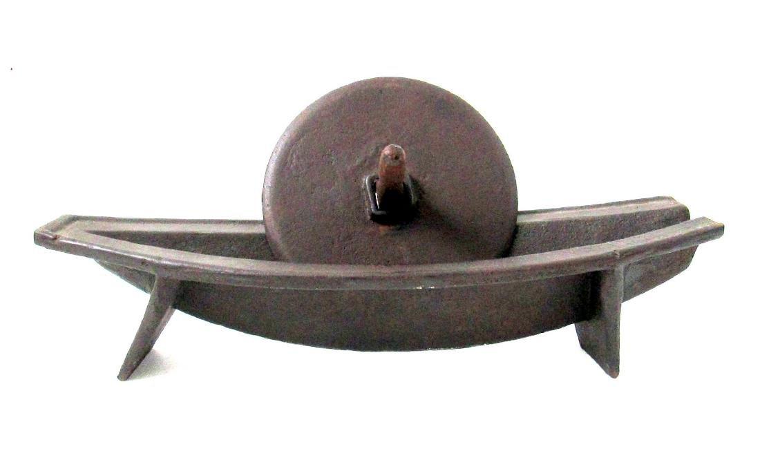 Rare 18th Century Iron Herb Grinder - 2