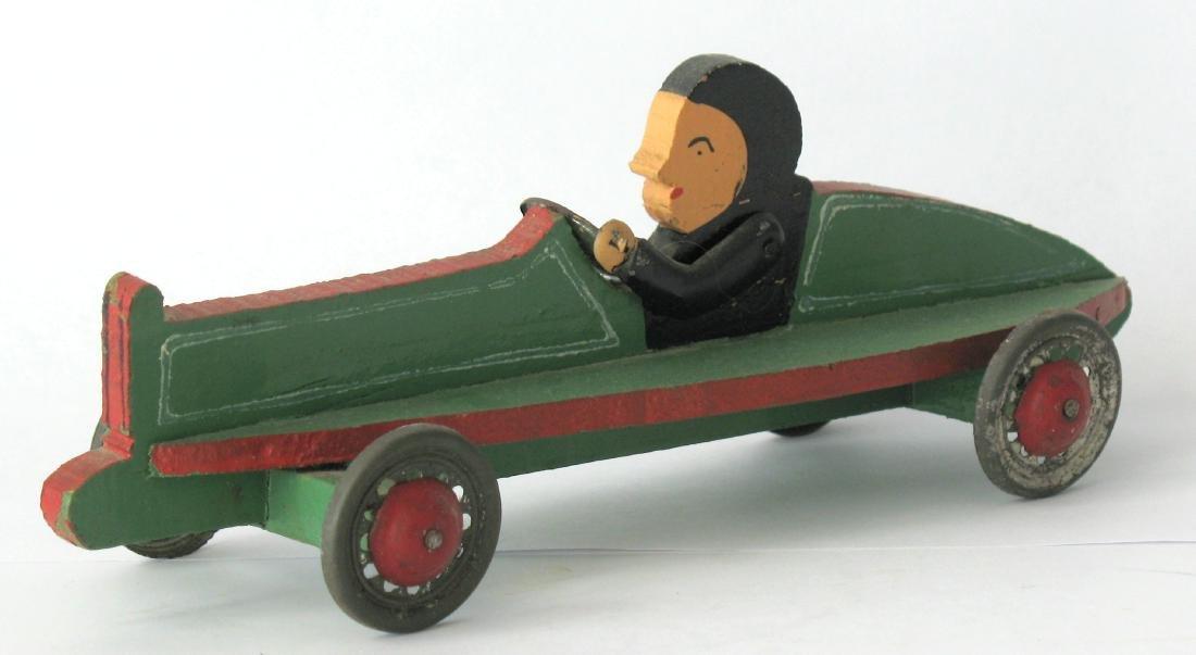 Whimsical Folk Art Race Car