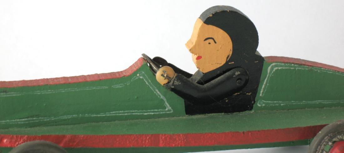 Whimsical Folk Art Race Car - 2