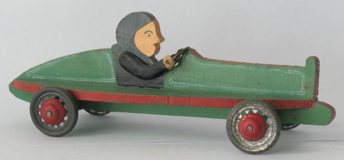 Whimsical Folk Art Race Car - 3