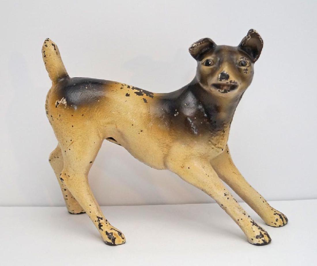 Antique Terrier Dog Cast Iron Doorstop