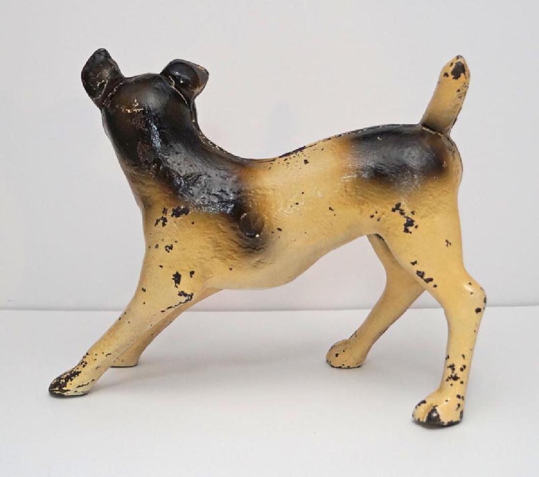 Antique Terrier Dog Cast Iron Doorstop - 4
