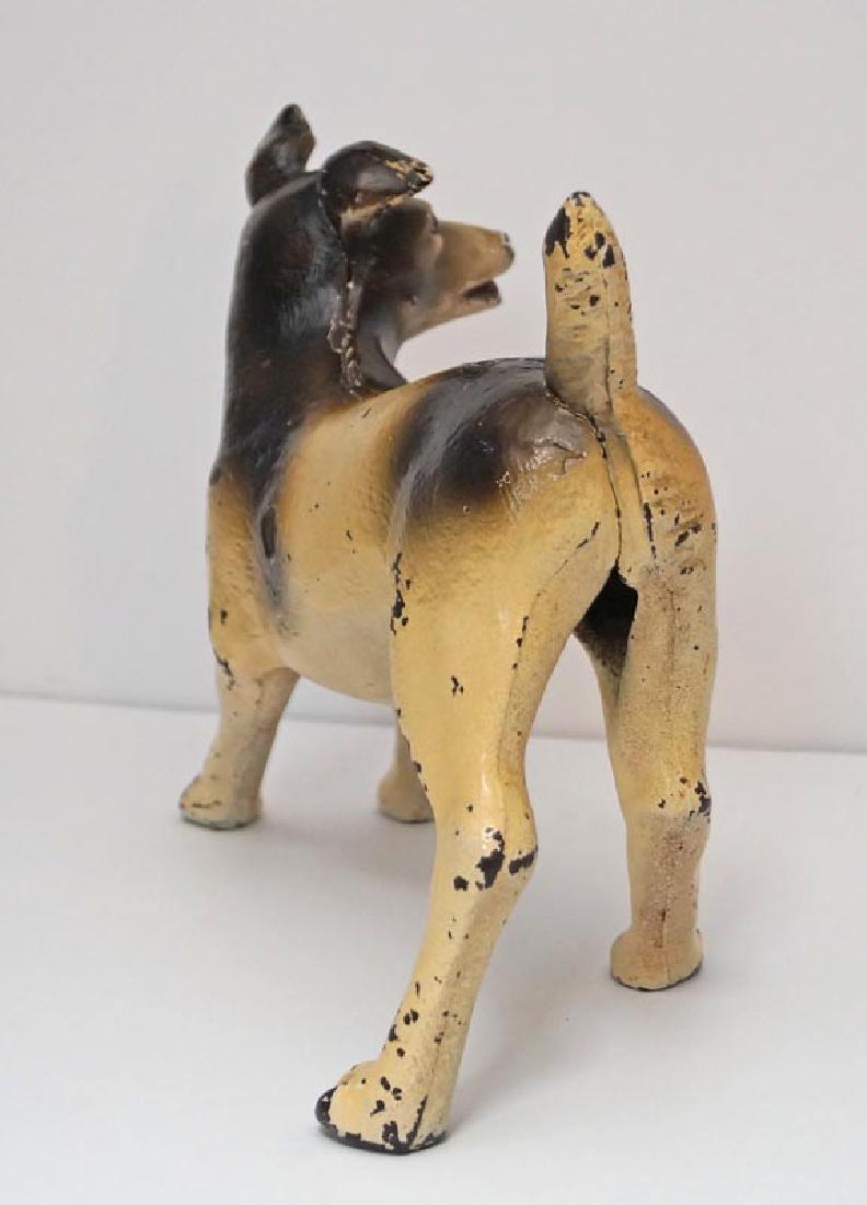 Antique Terrier Dog Cast Iron Doorstop - 5