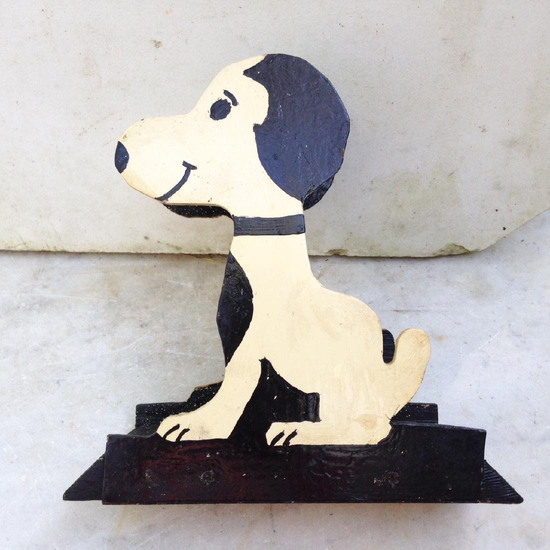 C1960's Wooden Home Made Snoopy Letter Holder