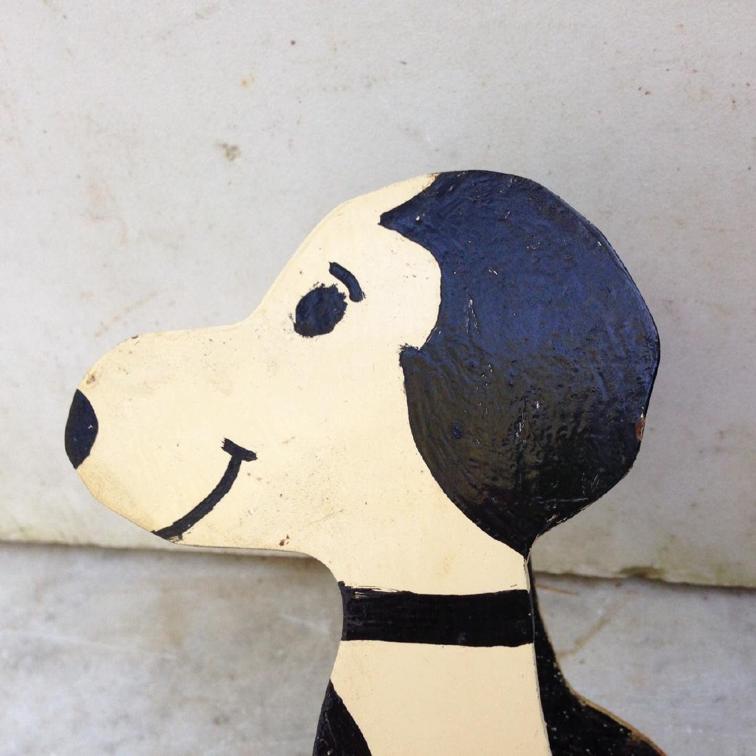 C1960's Wooden Home Made Snoopy Letter Holder - 2