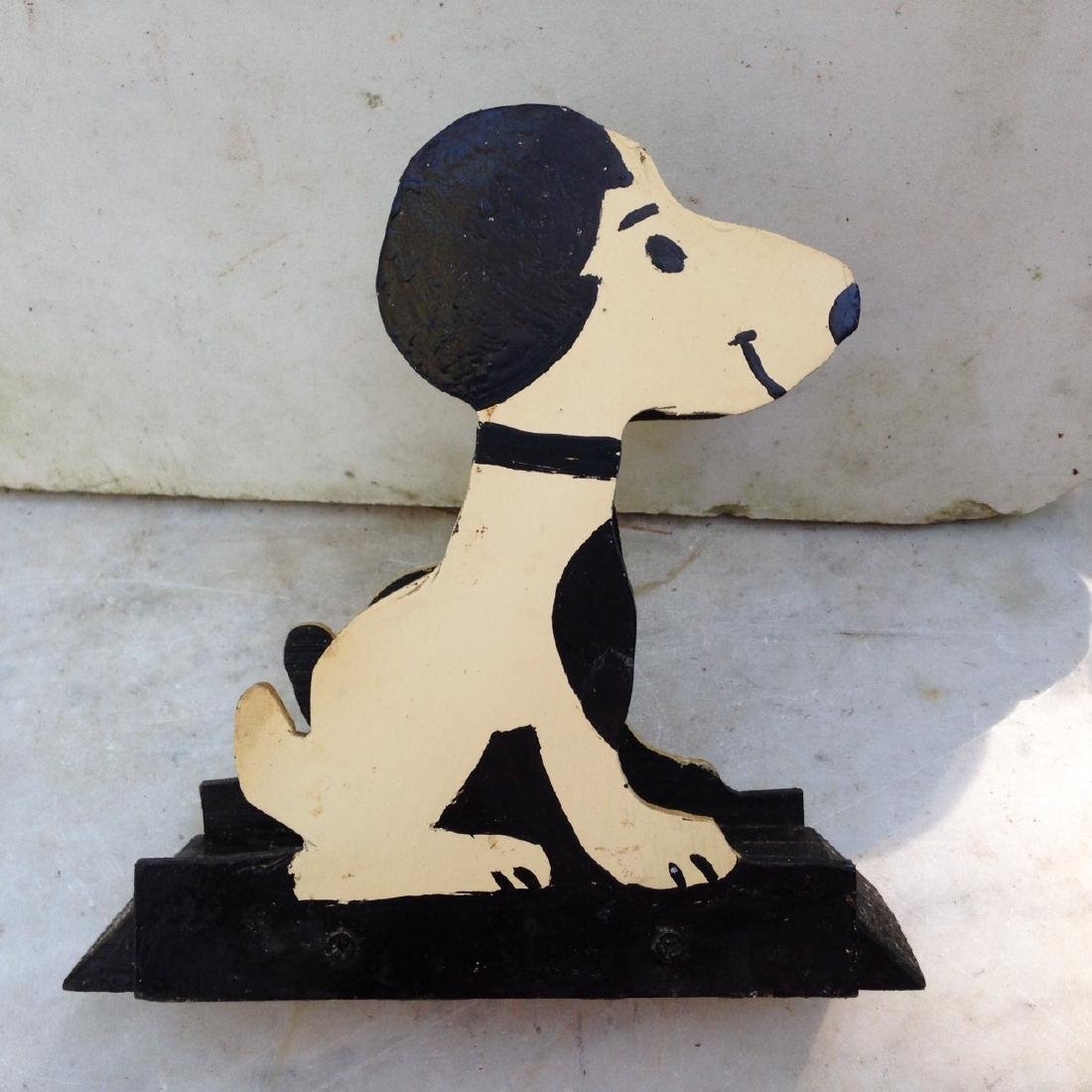 C1960's Wooden Home Made Snoopy Letter Holder - 3