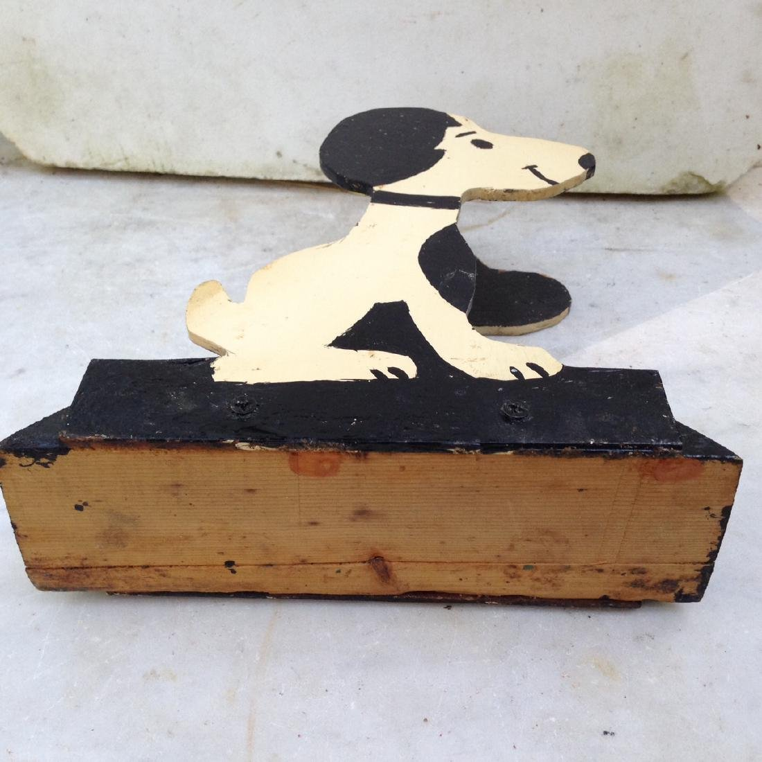 C1960's Wooden Home Made Snoopy Letter Holder - 5