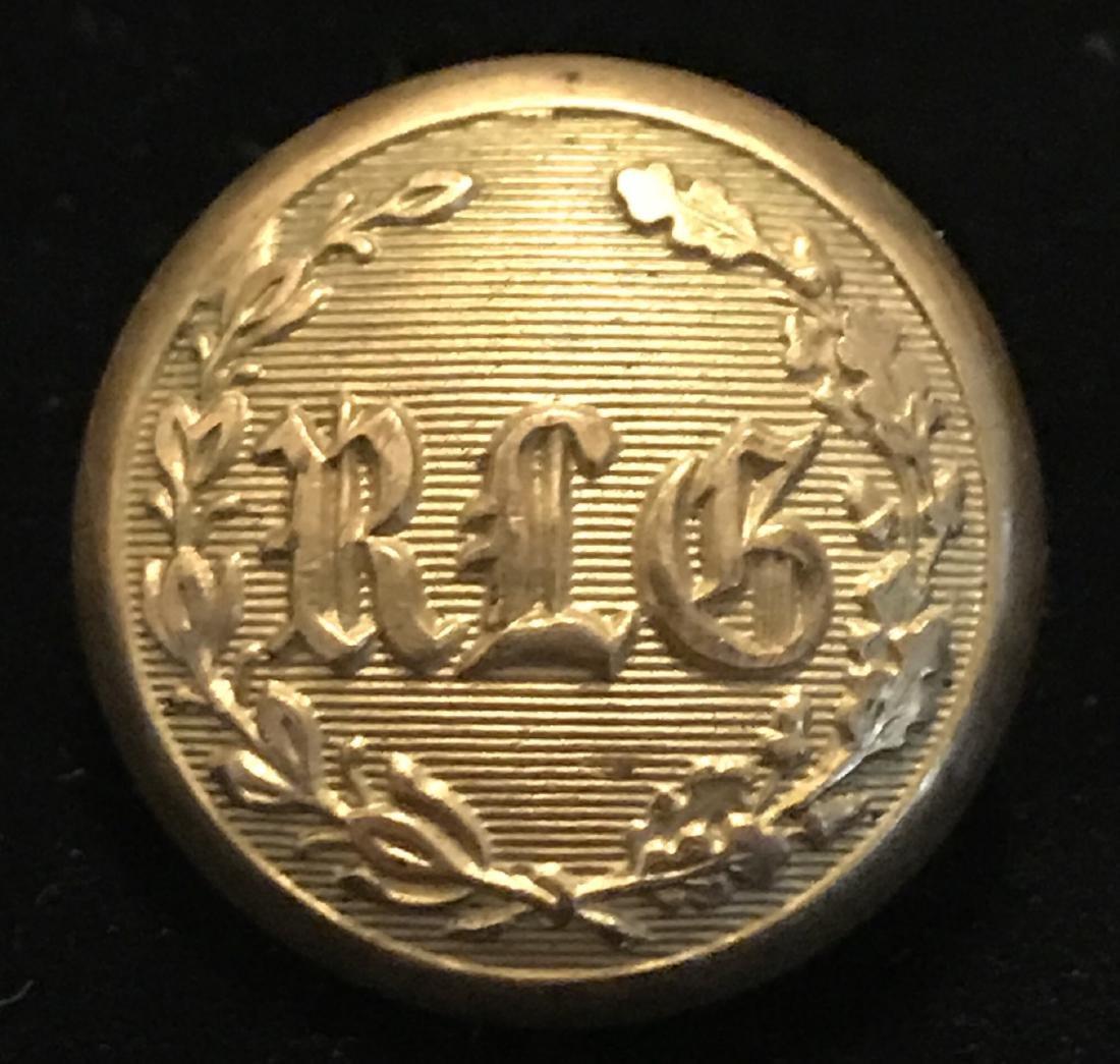 Civil War Brass Coat Button, RLG