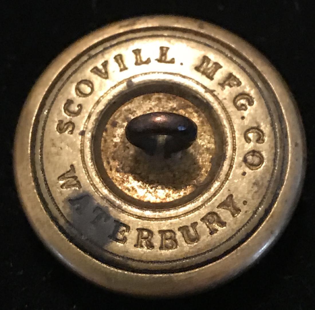 Civil War Brass Coat Button, RLG - 3