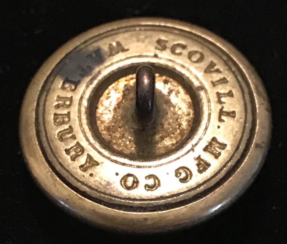 Civil War Brass Coat Button, RLG - 4