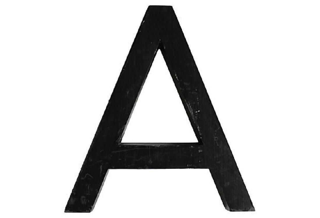 Aluminum Letter A