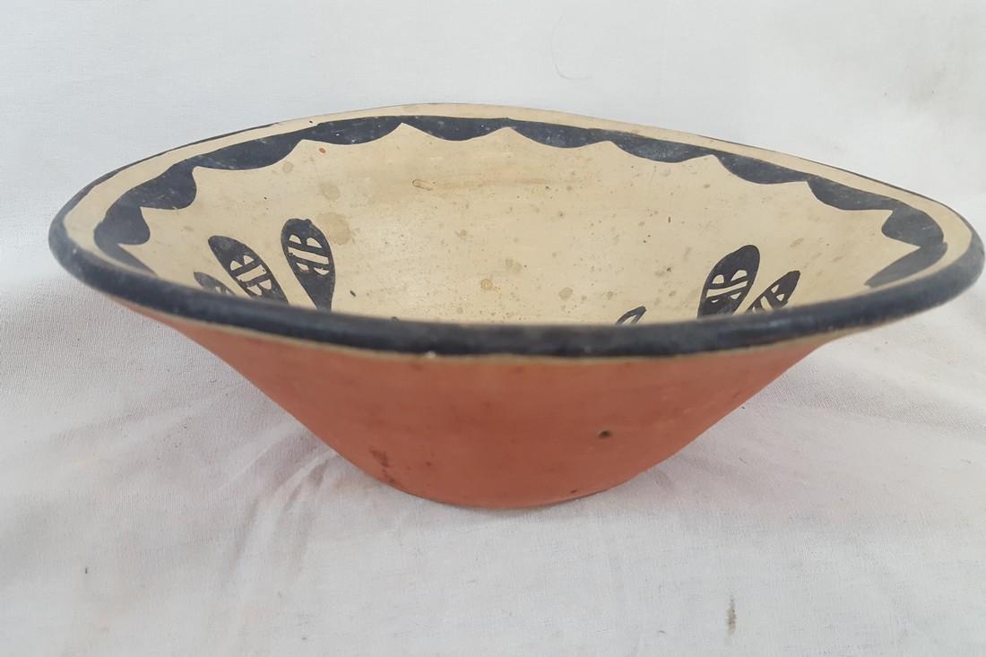 Santo Domingo Pueblo Decorated Bowl Ca 1920's