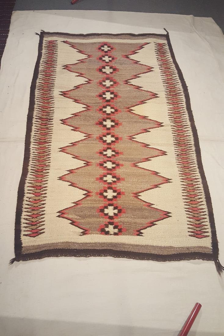 Early Navajo Woven Pound Rug Ca 1910-1925