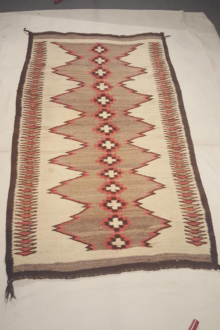 Early Navajo Woven Pound Rug Ca 1910-1925 - 2