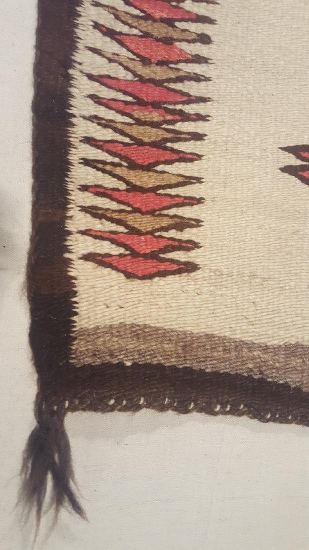 Early Navajo Woven Pound Rug Ca 1910-1925 - 3