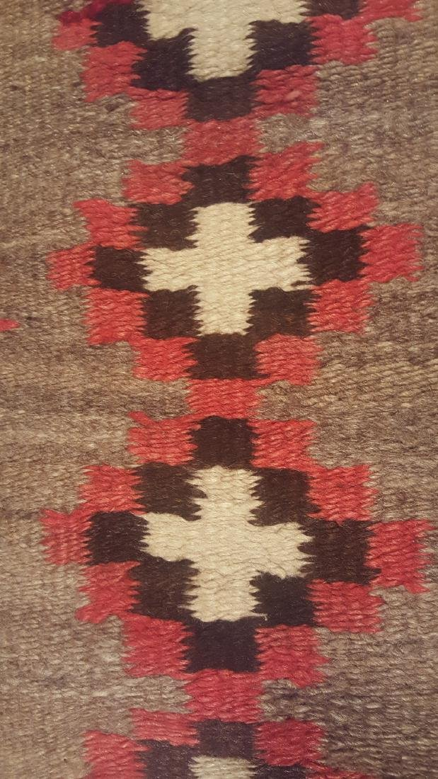 Early Navajo Woven Pound Rug Ca 1910-1925 - 4