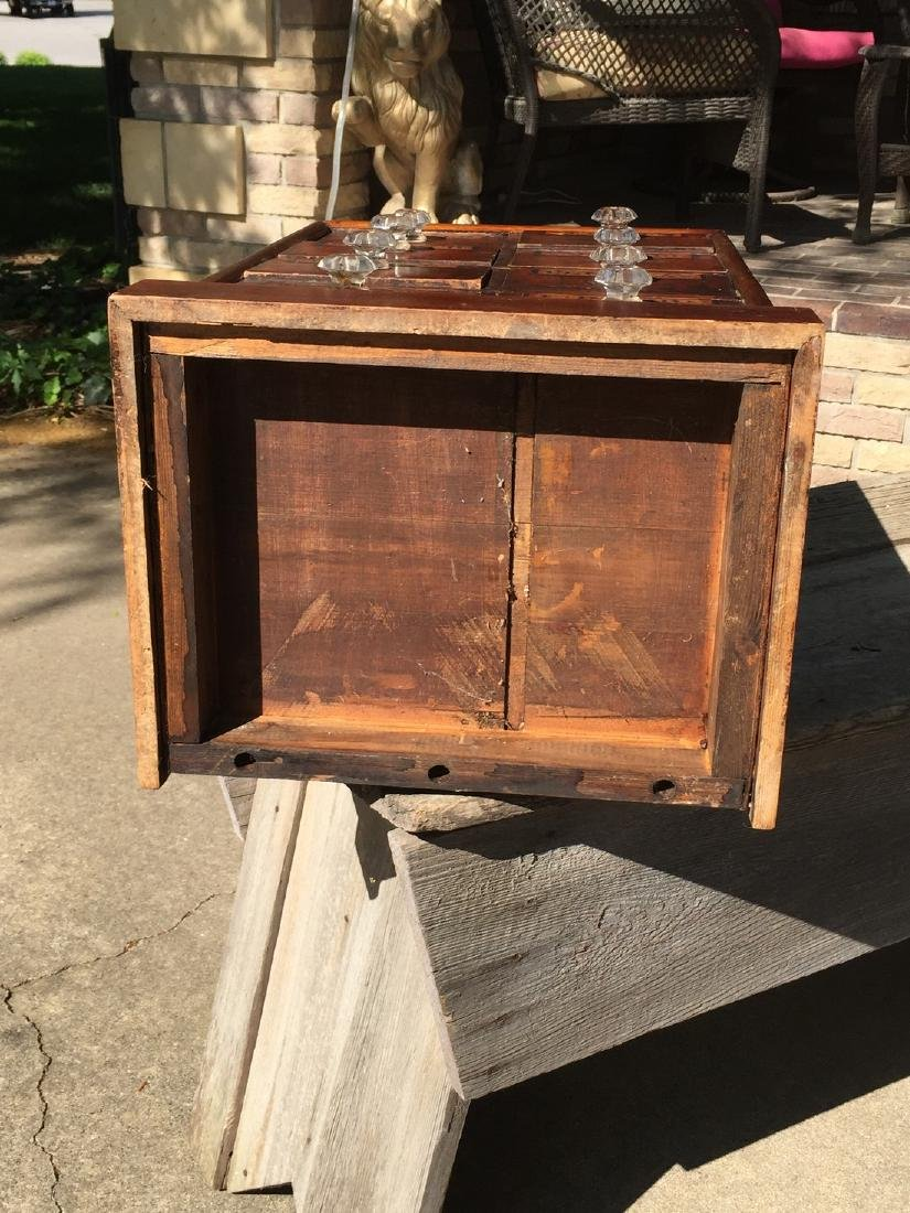 Antique Wooden Apothecary Cabinet Dove Tailed - 10