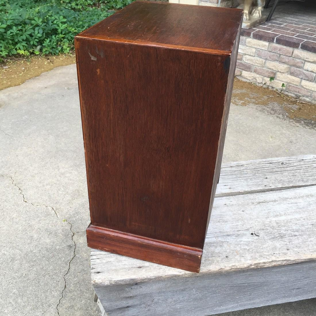 Antique Wooden Apothecary Cabinet Dove Tailed - 12