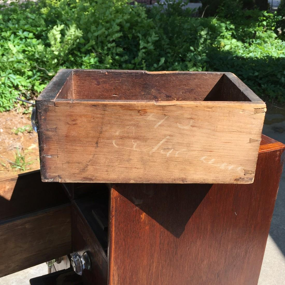 Antique Wooden Apothecary Cabinet Dove Tailed - 2
