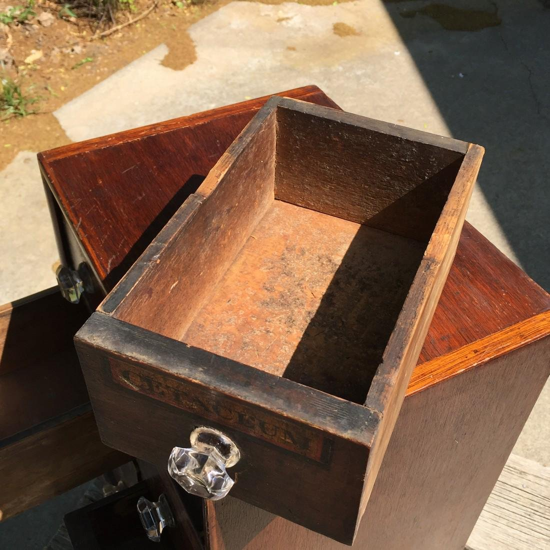 Antique Wooden Apothecary Cabinet Dove Tailed - 3
