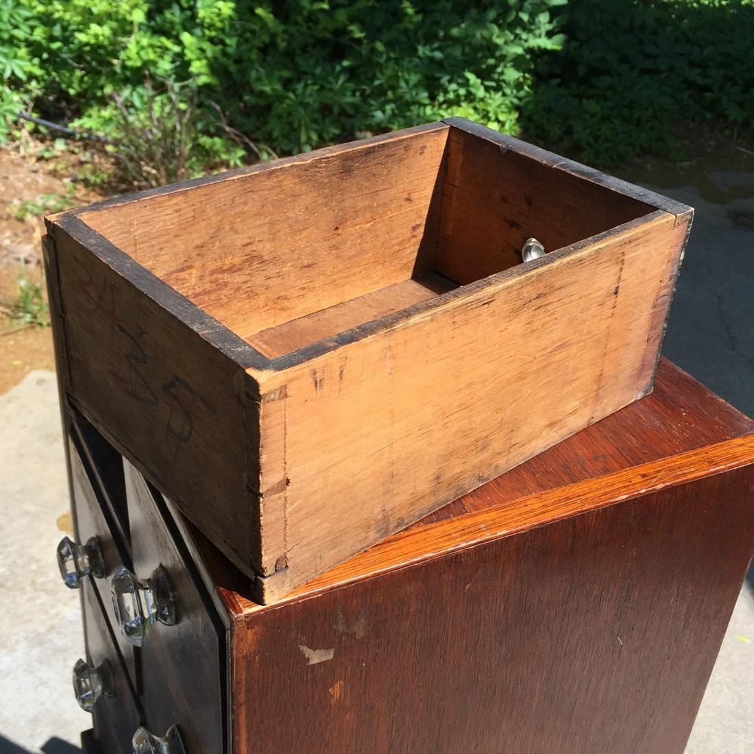 Antique Wooden Apothecary Cabinet Dove Tailed - 5