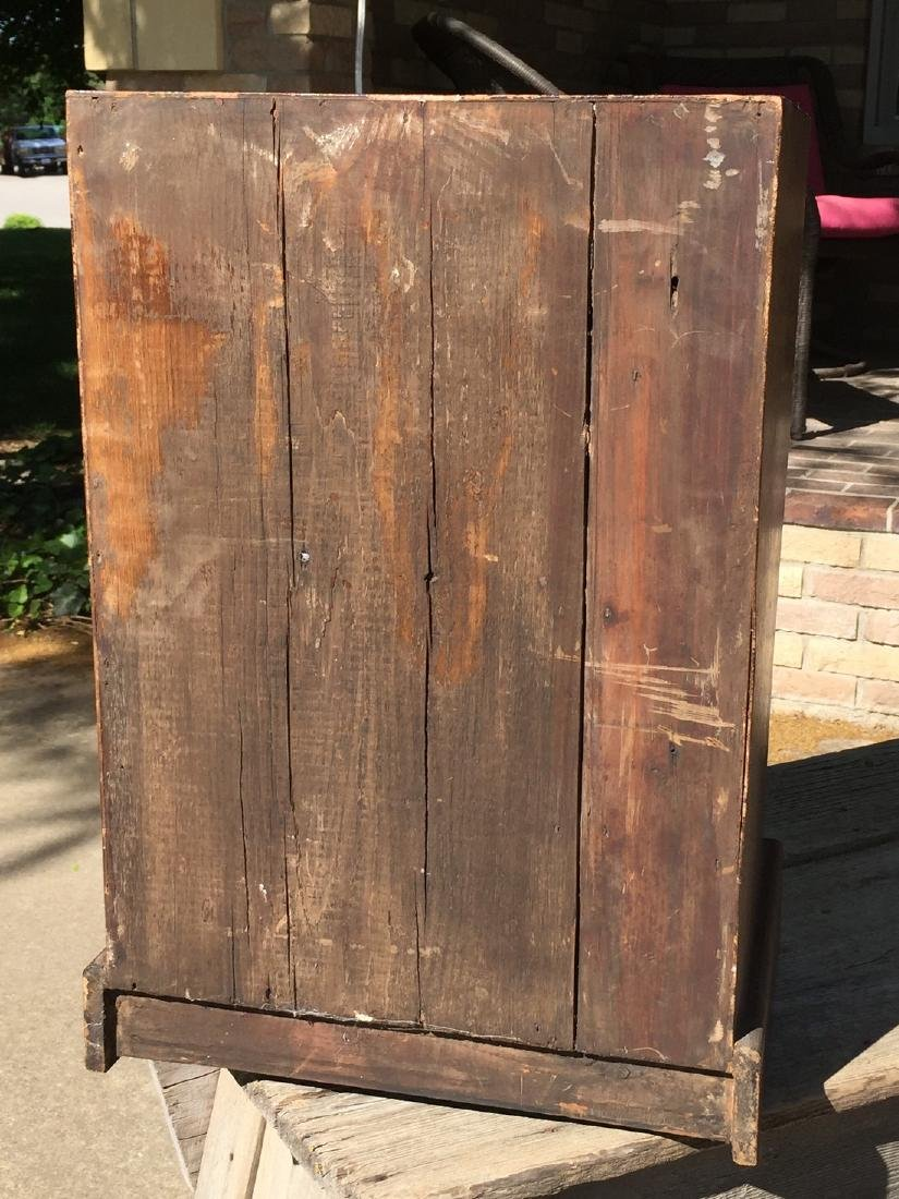 Antique Wooden Apothecary Cabinet Dove Tailed - 8
