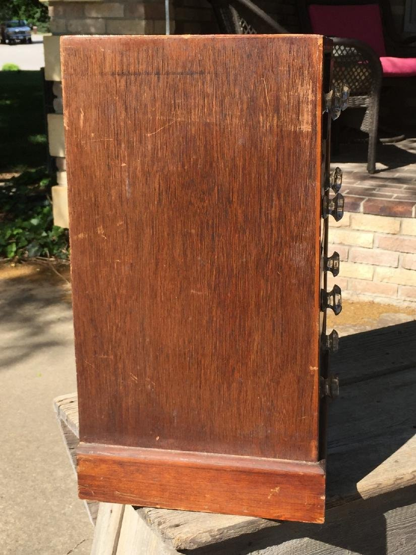 Antique Wooden Apothecary Cabinet Dove Tailed - 9