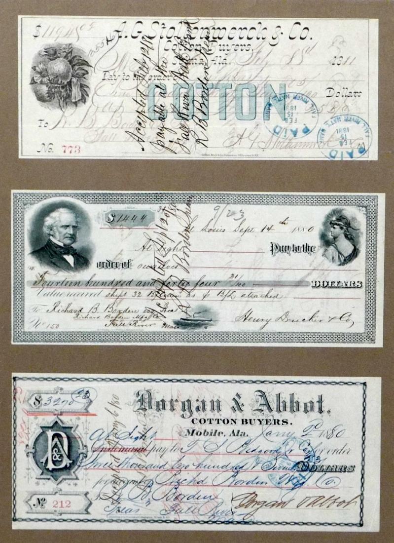 3 Framed Cotton Exchange Certificates