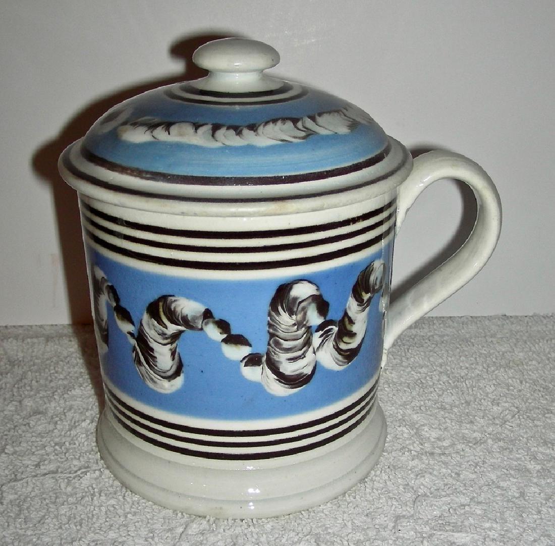 Earthworm Decorated Mocha Ware Porter Mug Original Lid