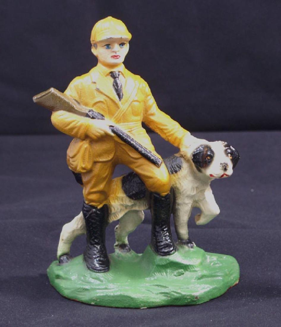 Antique Hunter & Setter Cast Iron Bookends - 2