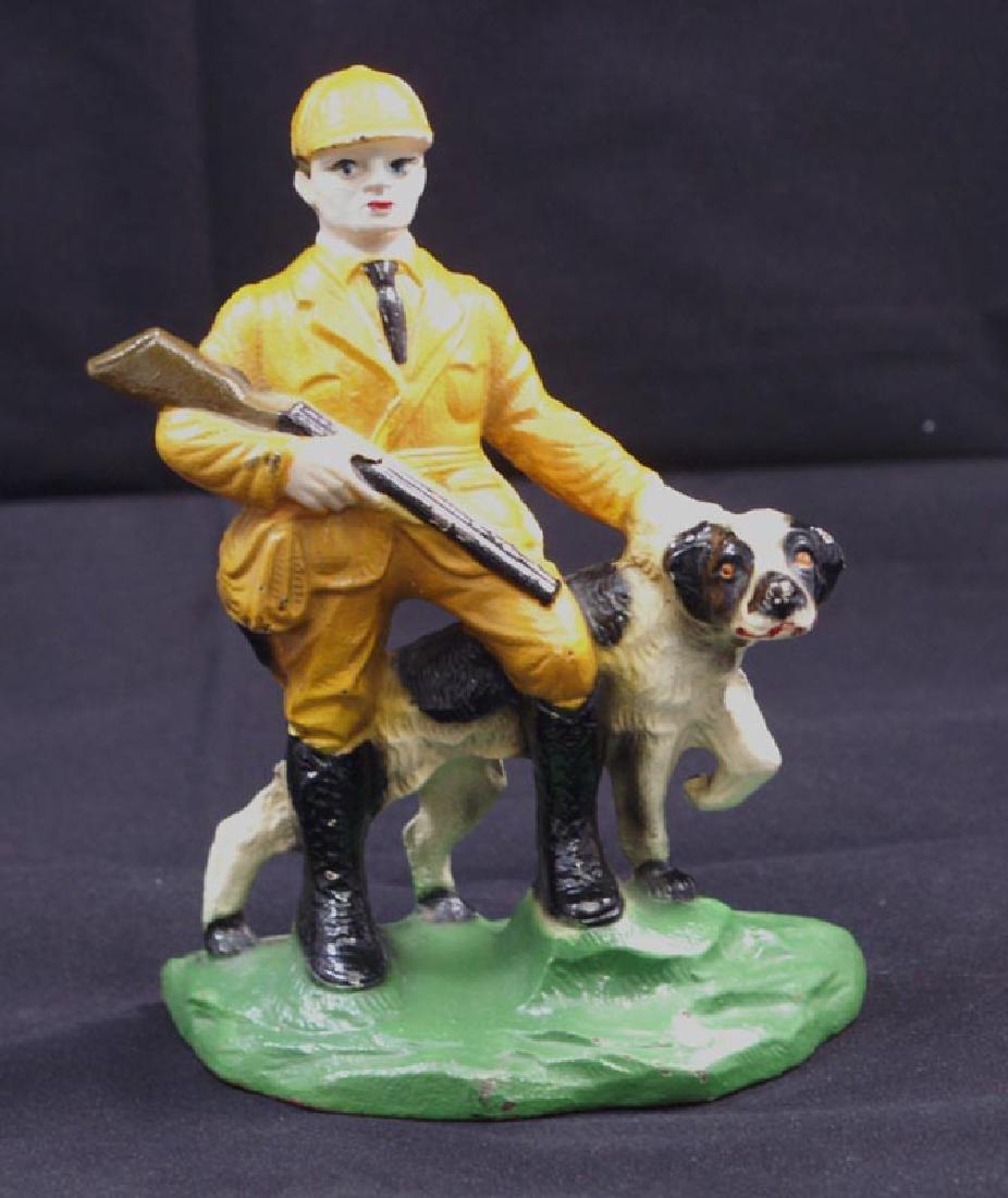 Antique Hunter & Setter Cast Iron Bookends - 3
