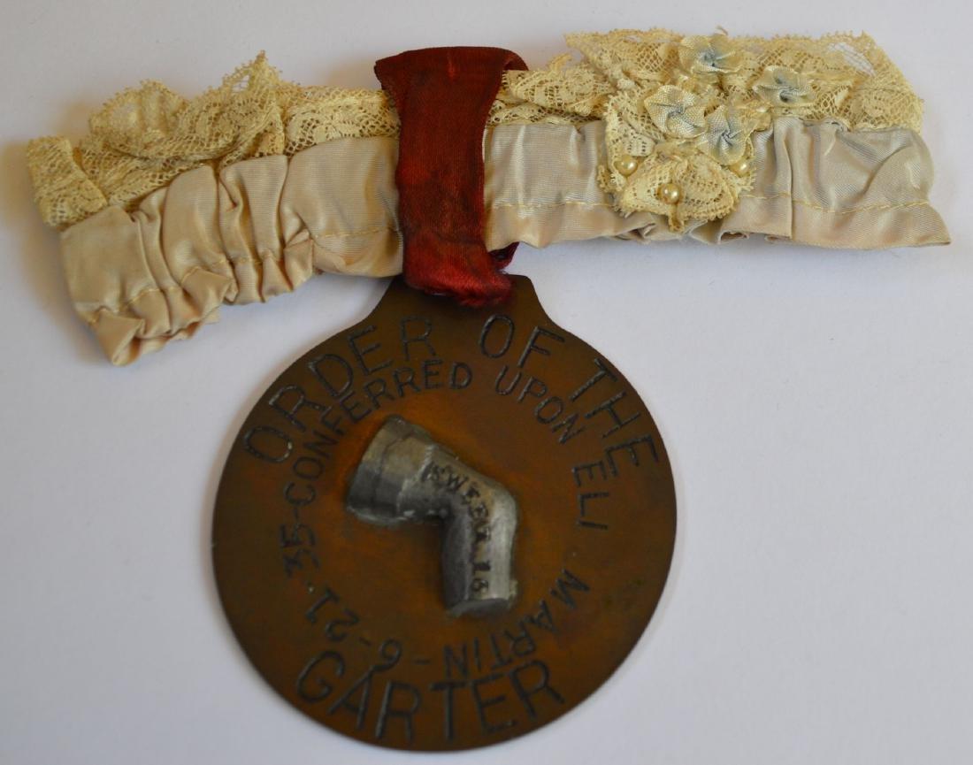 Vintage 1935 Commemorative Medallion Garter Eli Martin