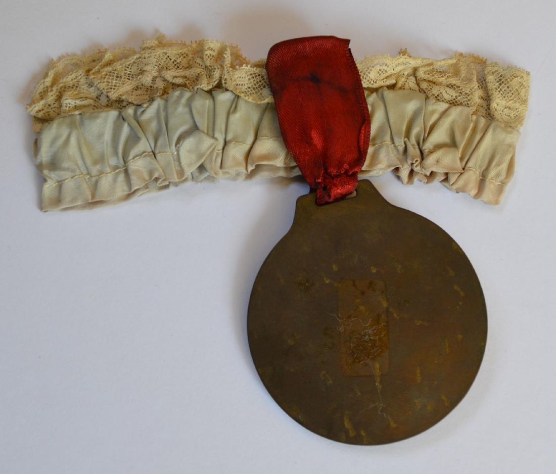Vintage 1935 Commemorative Medallion Garter Eli Martin - 2