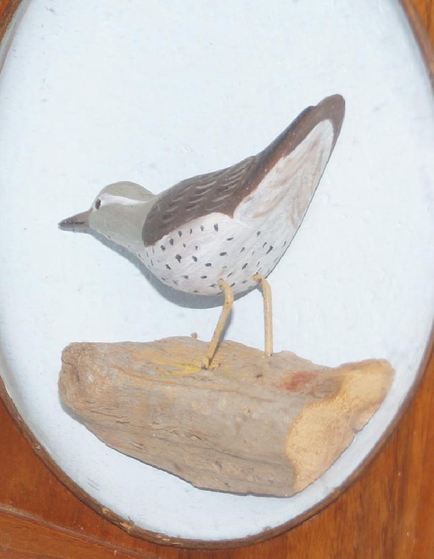 Antique Decorative Sandpiper Carving in Diorama - 6