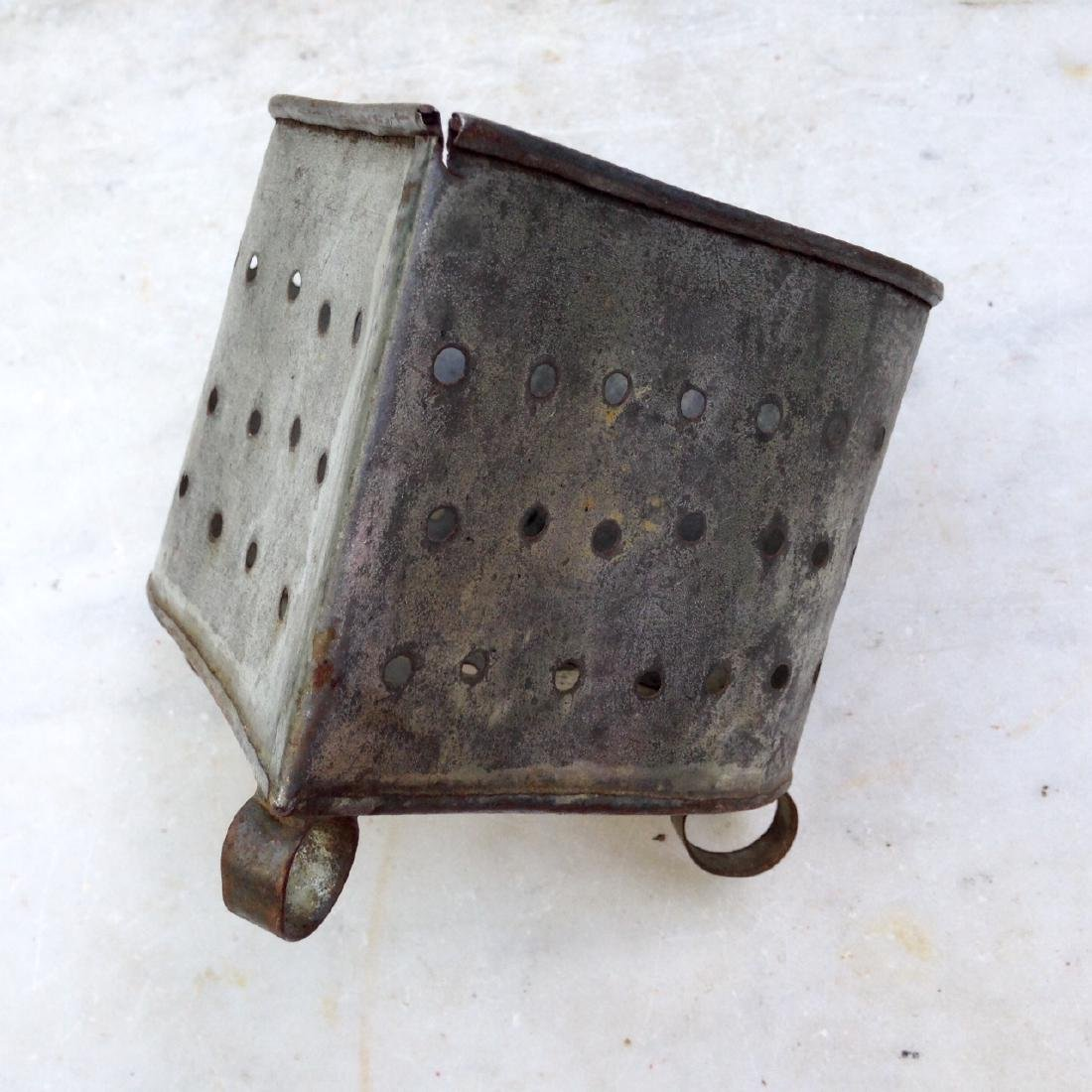 C1900 Tin American Cheese Drainer - 2