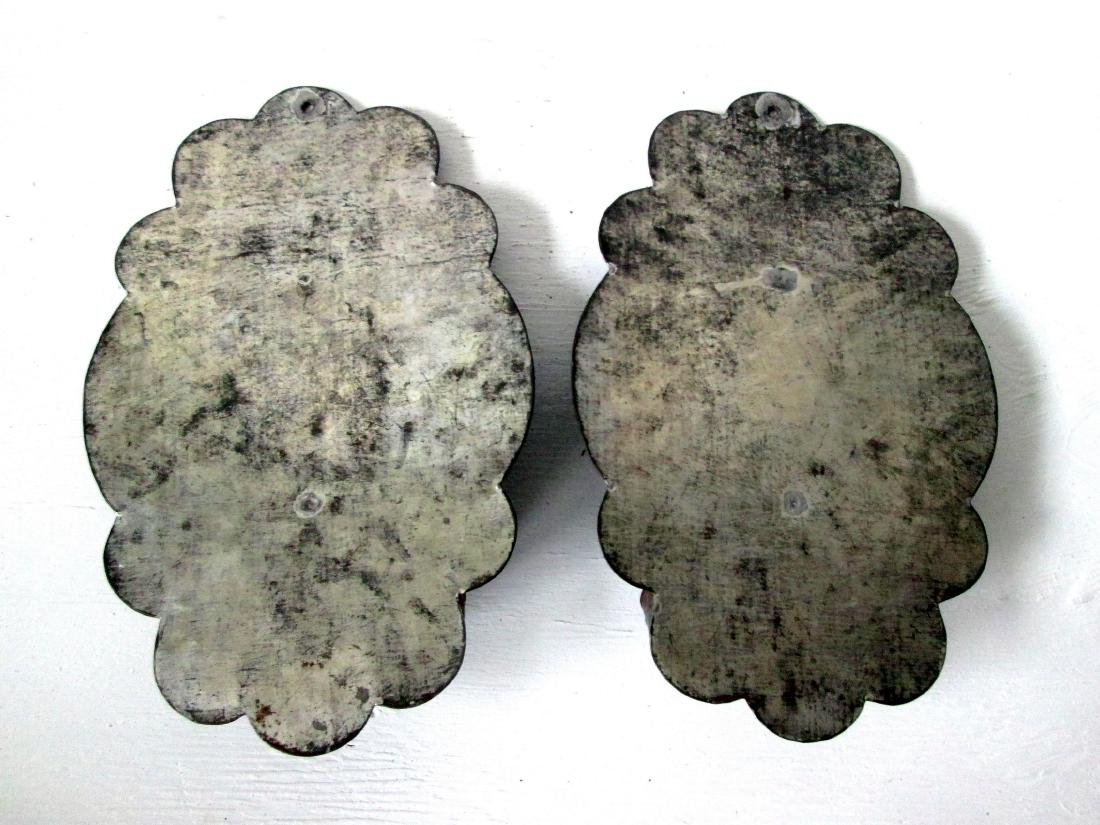 Rare Early Embossed Sconces - 7