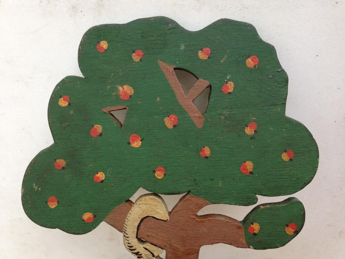 1930 Folk Art Garden of Eden Forbidden Fruit Apple Tree - 7